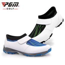 mens golf shoes casual sports  shoe with  super anti-skid spike nail super light breathable velcro golf shoes 250G rubber flat