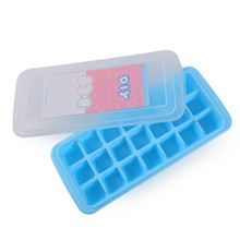 New Ice Cube Tray Molds Square Shape FDA Grade Plastic PP Jelly Moulds with Cover 21 Cubes