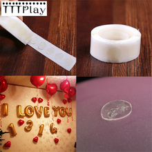 100pcs/roll New Removable Stickers Balloons Glue Wholesale Wedding Decoration Happy Birthday Party Supplies Balloons Accessories(China)