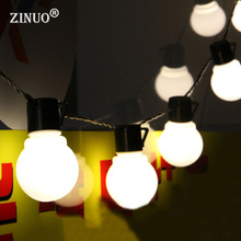 ZINUO  5CM Big Ball LED String Light Christmas 2.5M 5M 10M Fairy String Garland Starry Lights Party Wedding Outdoor Lighting
