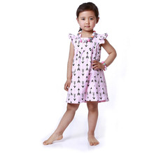 Girls Boutique Dress Ruffle Sleeve Girls Baby clothes Summer Arrow Printed Children Dress Arrow Printed Smock Dress for kids