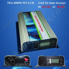Inverter grid tie 1000w, inverter on grid, mppt solar charge controller inverter 1000w dc 45-90v input