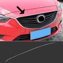 FIT FOR 2014-2015 MAZDA 6 ATENZA M6 CHROME FRONT HOOD BONNET GRILLE GRILL LIP MOLDING COVER TRIM BAR GARNISH LID PROTECTOR