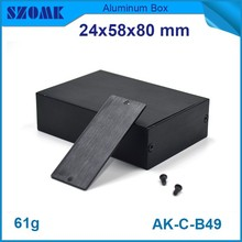 1 piece free shipping diy electronic box small junction box surface quality box fit small case in Black color size is 21x54mm(China)