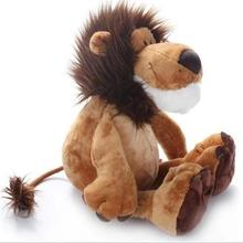 "1pcs 10"" 25cm Popular NICI Lion Stuffed Doll Plush Jungle Series Animal TOYS Kids Toys(China)"