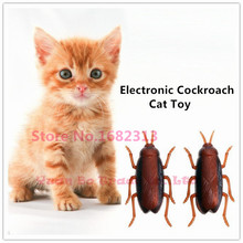 Cat Toy , Electronic Cockroach Cat Toy, Fun Cat Toy with Battery 2015 new arrival free shipping asde