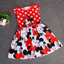 summer dress girl clothes vestidos roupas infantil meninas vestir children's / kid clothing dot party dresses minnie costume