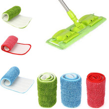 Rectangle Practical Household Dust Cleaning Reusable Microfiber Pad For Spray Mop Cloth replace Head Mops drop shipping