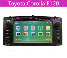 Free Shipping For Toyota Corolla E120 Car DVD Player With GPS Navigation Radio+AM+FM+SD+USB+TV+IPOD+Bluetooth+Free Map