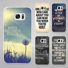 Quote Design Inspirational phrase Hard White Coque Shell Case Cover Phone Cases for Samsung Galaxy S4 S5 S6 S7 Edge Plus