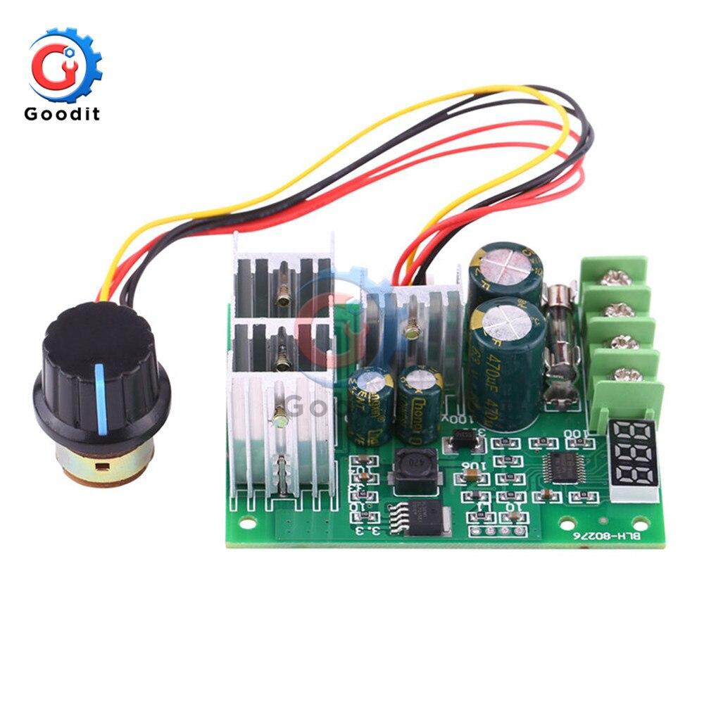DC 6-60V 12V 24V 36V 48V 30A PWM DC Motor Speed Controller Regulator LED Display
