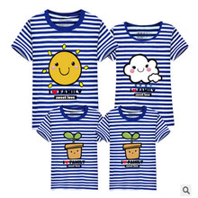 LD10385 summer lovers clothes matching clothes matching clothes family matching outfits father mother babys carton design tshirt