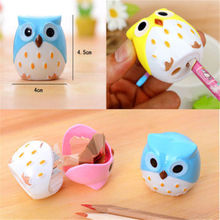 4Colors POP Owl Pattern Pen Pencil Sharpener Home School Kid's Desk Stationery