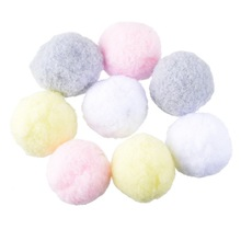 Hoomall 100PCs Multicolor Pompoms Ball Fur Craft DIY Soft Pom Poms Wedding Home Decoration Sewing On Cloth Accessories Round 3cm(China)