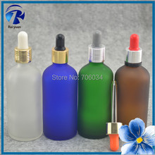Essential Oil Glass Bottle 100ml Amber Frosted Empty Glass Bottles Mini Small Clear 100ml Amber Glass Bottle E Cigarette Liquid