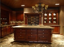 classic best-selling solid wood kitchen cabinets(LH-SW065)(China)