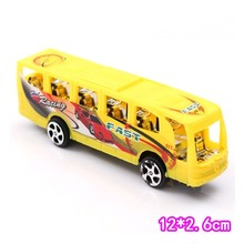 Pull back bus random color one pcs car model vehicle toy for children(China)