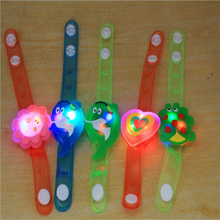 2017 High Quality Multicolor Light Flash Toys Wrist Hand Take Dance Party Dinner Party Gift For Children Kid LED Lamps Light(China)