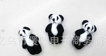 100pieces/lot 4 cm mini plush panda joints widgets Kung fu panda plush dolls black and white  pendant
