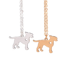 Gold & Silver 1pc Fashionable Bull Terrier Bull Terrier Pendant Silver Necklace Dog Breed  for lovers