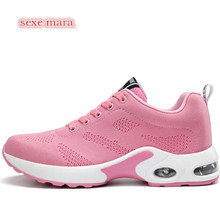 Air Cushioning Sneakers Running Shoes For woman Sport Shoes Women Jogging Walking Breathable Gym Outdoor Shoes Athletic Trainers(China)
