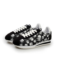 2017 spring summer luxury brand men casual shoes,light originality skull heads print Cortez Hip hop flat lovers shoes size 35-44(China)