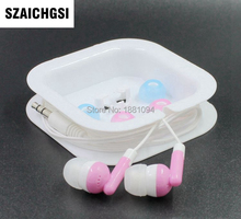 SZAICHGSI wholesale 500pcs/lot Cheapest colorful 3.5mm In ear candy Earphone With Crystal Box As Gift For MP3 MP4 Mobilephone(China)