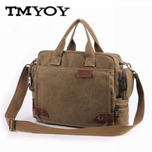 TMYOY Brand Canvas Men's Shoulder Bags Office Briefcase Casual Handbags Male Messenger Crossbody Bag Cell Phone Pocket MW020(China)