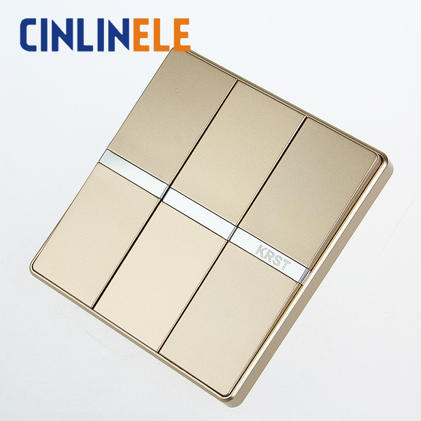 1Pcs Luxury Wall Switch, 3 Gang 1 Way, Ivory GOLD, Brief Art Weave, Light Switch, AC 110~250V  10A No border design 86mm*86mm<br><br>Aliexpress
