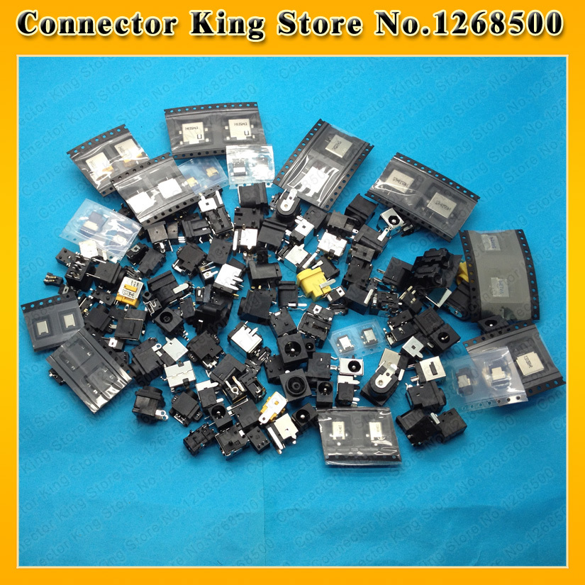 Best price freeshipping 82models 82pcs DC Jack for SONY/SAMSUNG/ACER/ASUS/Lenovo/HP/Toshiba/...Laptop Tablet PAD Netbook(China (Mainland))