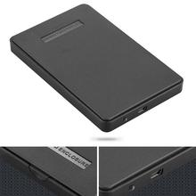 High Quality ABS Plastic Slim Portable 2.5 HDD USB 2.0 Hard Drive External Enclosure 2.5 HDD Disk Box Cases laptop hard drive(China)