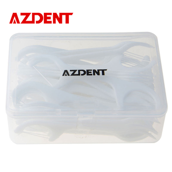 AZDENT Dent Cleaner 50 PCS Soie Dentaire Oral Care Dents Bâton Flossers Choisissez Cure-Dents Avec Soie Dentaire Flosser Hygiène Bucco-dentaire