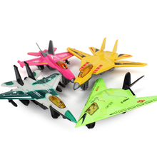 4pcs/set Alloy Fighter Plane Model Toys Military Fighter Airplane Model Collection Aircraft Pull Back Plane Toys for Kids Gifts