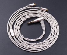 NICEHCK 8-cores Pure Silver Earphone Upgrade Cable Custom Made For Shure SE535 SE846 UE900 DZ7 DZ9 DZX LZ A3 QT5 MMCX Cable(China)