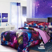 Free shipping Hipster Galaxy 3D Bedding Set Universe Outer Space Themed bedlinen duvet cover & pillow case twin full queen size
