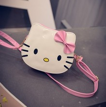 Cute Hot Cartoon Children Bag Hello Kitty Handbag Kids Tote Girls Shoulder Bag PU Leather Messenger Bag Wholesale Bolsas