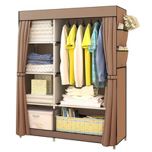 Actionclub Assembly Wardrobe Closet Home-Furniture Simple Modern DIY Non-Woven Cloth