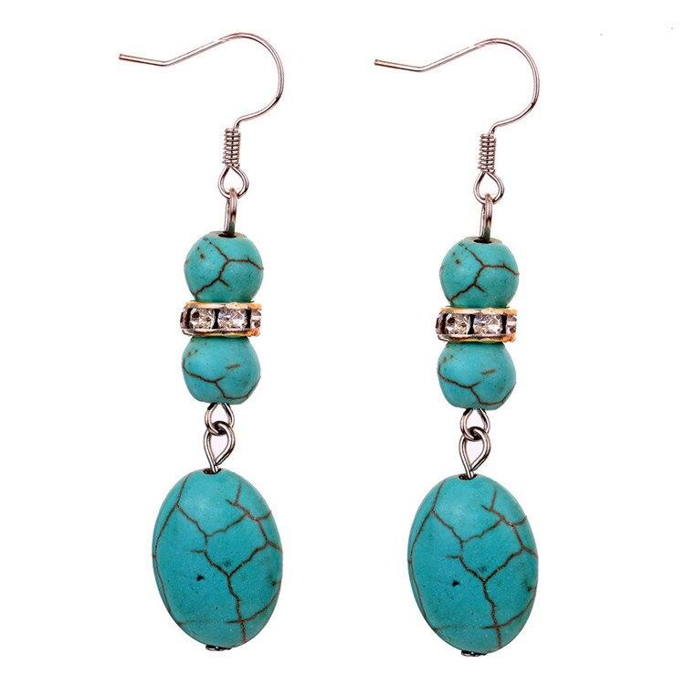Charming Tibetan Silver Crystal earrings,Oval Rimous Drop Dangle Earrings, Cistmas ift for Women,Yazilind Jewelry