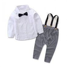 2pcs new summer bulk Toddler Kids Baby Boys Outfits  long sleeve Shirt Tops +Long Pants Overalls Clothes Set 0-24M