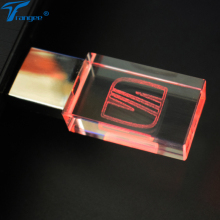 Trangee Crystal USB Flash Drive for SEAT Car Logo 4GB 8GB 16GB 32GB USB 2.0 Memory Stick Metal Pen Drive with LED Light(China)
