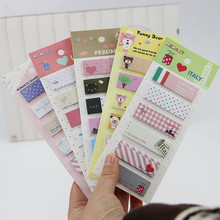 Office Stationery Romantic Memo Pad Sticky Kawaii Paper Stickers Bookmark Tab Flags Memo Book Marker Sticky Notes