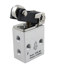 Pneumatic Air 2 Position 3 Way Roller Actuator Mechanical Valve S3R-M5(China)