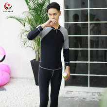 Mens Diving Wetsuits Long Sleeve One-piece Swimwear Swimming Surfing Suits Quick Dry Snorkeling Suit Anti-UV Protection M-3XL
