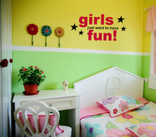 girls just want to have fun home decoration wall art decals living room decorative stickers murals quote(China)