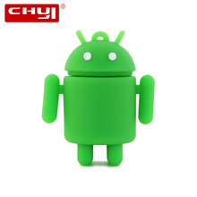 CHYI Cartoon USB Flash Drive Pen Driver Cool Android Robot Flash Disk Memory Stick 4GB 8GB 16GB 32GB 64GB Pendrive Free Shipping(China)