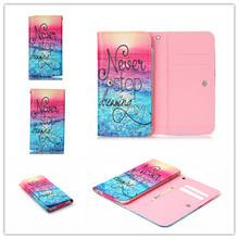 2016 Hot PU Leather Protection Phone Case With 12 Painting And Card Wallet For HTC EVO 3D(China)