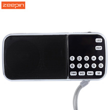 2017 New L-088 Portable FM Radio Speaker Digital Stereo Mini Music Player with TF Card USB AUX Input Sound Box With Flashlight(China)
