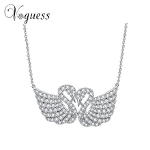 VOGUESS High Quality Zircon Swan Necklace Fashion Crystal Chain Pendant Necklaces For Women Summer Jewelry Free Shipping