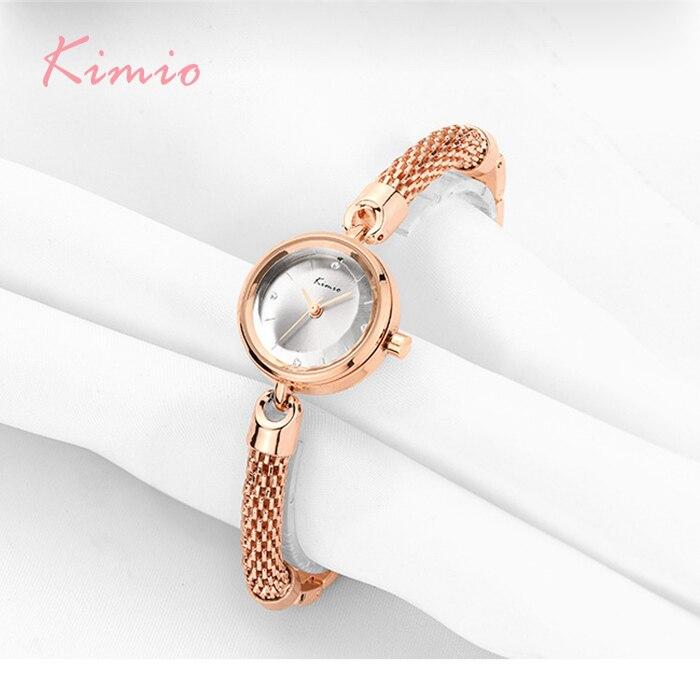 KIMIO Brand Mesh Strap Bracelet Watches Ladies Women Multi Cutting Surface Mirror Dress Quartz Wrist Watch h Horloge<br>