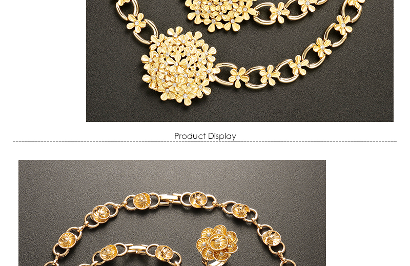 AYAYOO Wedding Jewelry Sets Imitation Crystal Bridal African Beads Jewelry Set For Women Gold Color Luxury Dubai Jewelry Sets (3)
